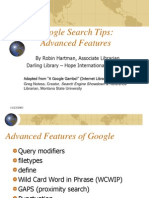 Google Advanced Features