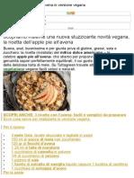 Ricetta Dell'Apple Pie All'Avena in Versione Vegana
