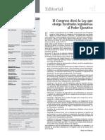256 EDITORIAL Ley Que Otorga Facultades Legislativas Al Poder Ejecutivo