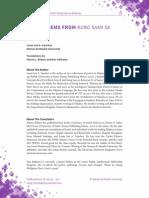 Three Poems from Kung Saan Sa Katawan by Louie Jon A. Sanchez