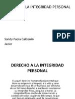 Derecho a La Integridad Personal