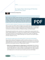Case Study - Ingres Takes Advantage of Identity Management in the Cloud - 2008 - Forrester