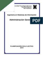 Administracion Gerencial_programa Universidad Tecnolg Nacional San