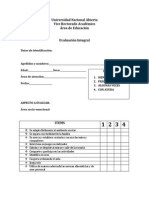 Universidad Nacional Abierta (Evaluacion Integral)