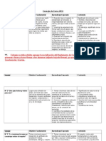 Matriz c. de Curso Aprendizaje Esperados 2014