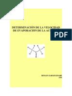 Determinacion Velocidad Evaporacion de La Acetona r Zarges k 2008