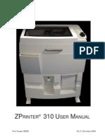 ZPrinter 310 User Manual_RevF