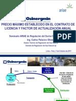 Determinacion Del Precio Maximo y Factor Utilizacion