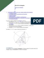 Puntos y Rectas Notables de Los Triángulos