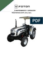 Mantenimiento y Reparacion Tractores Foton