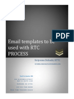 email templates to be used with rtc
