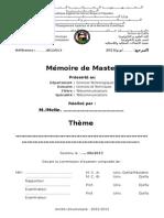 Modele Memoire Master Télécoms Juin 2013
