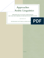 Ditters & Motzki-Approaches to Arabic Linguistics