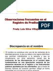 Observaciones Frecuentes Predios-fREDY VILLAJUAN