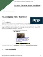 Fungsi Sepeda Motor Dan Mobil _ Fungsi Dan Jenis-Jenis Sepeda Motor Dan Mobil