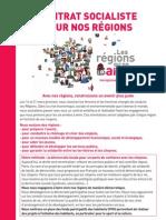 Le contrat socialiste pour les régions