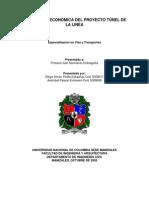 Evaluacion Del Proyecto Tunel de La Linea_diegopinilla y Otro