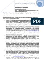 COMUNICADO N° 002-09-DEMOP