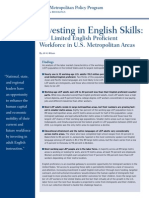 Brookings Report on Limited English Proficient Workforce in U.S.