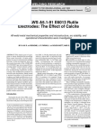 ANSI-AWS A5.1-91 the Effect of Calcite on Electrodes