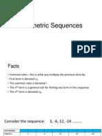 Geometric Sequences (1)