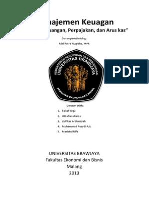 Makalah Manajemen Keuangan Laporan Keuangan Perpajakan Dan Arus Kas