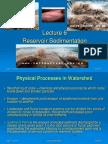 Sedimentation in dams and resorvoirs
