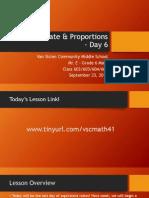 Lesson #6 - Ratio Language & Equivalent Ratios Day 3