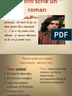Florin Scrie Un Roman - Secvente Narative