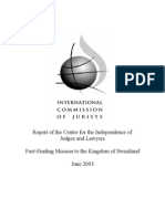 International Commission of Jurists Swaziland Report 2003