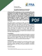 FRA - Présentation rapport discrimination en Europe