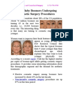 More Baby Boomers Undergoing Cosmetic Surgery Procedures