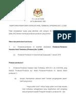 Peraturan-Peraturan Kawalan Hasil Tembakau _Pindaan_ _No.2_ 2009
