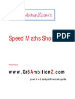 Speed Maths Shortcuts - Gr8AmbitionZ
