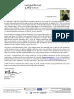 Uplands Alumni Introduction Letter 24th September 2014