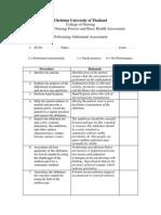 Performance CHECKLIST Neurological Assessment