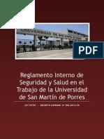 Reglamento Interno de Seguridad Salud en El Trabajo