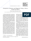 perioperative laboratorytesting - the clinics