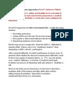 Alternative Assessment Approaches
