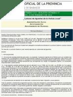 B.O.P. de Badajoz - Anuncio 01111:2014 Del Boletín Nº. 37 - Diputación de Badajoz