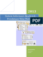 1. Sistem Informasi Akademik – Pendataan Nilai Mahasiswa