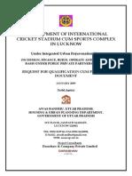 International Level Cricket Stadium, Lucknow