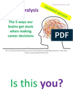 Old version - Career Paralysis (pt 1) - Five Reasons Why Our Brains Get Stuck Making Career Decisions