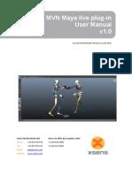 MVN Maya Live Plug-In User Manual