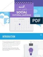 Your Sample Social Editorial Calendar