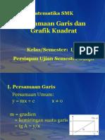 Persamaan Garis Dan Grafik