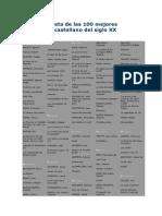 100 Mejores Obras Literarias en Castellano, Selecciona DIARIO EL MUNDO