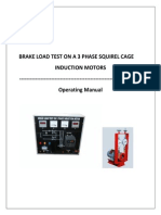 Brake Load Test of Squirel Cage Induction Motor 3 Phase