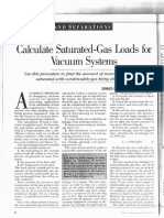Calculate Saturated-Gas Loads for Vacuum Systems