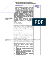 unit plan overview table
